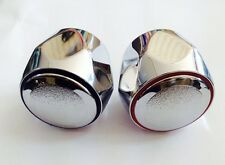 Tap Top/Head Chrome Plated Brass (HOT & COLD) Pair