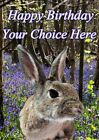 Rabbit All Occasions A5 Personalised Greeting Card Birthday PIDFF8 With GIFTS