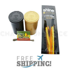 Shine 24K Karat Gold Cigar Wraps 2 Pack Papers Plus Bonus Gifts!