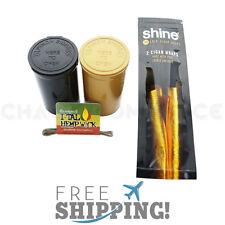 Shine 24K Karat Gold Cigar Wraps 2 Pack Papers Plus Bonus Gifts!
