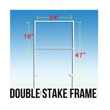 Lot of 5 White Double Stake Frame 18 x 24 Real Estate Open House Sign Holder