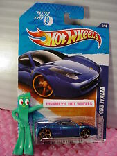 HTF 2011 FTE Hot Wheels FERRARI 458 ITALIA #146✿Blue✿copper Faster Than Ever