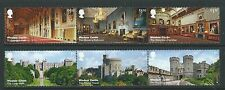 GREAT BRITAIN 2017 WINDSOR CASTLE SET IN TWO STRIPS FINE USED