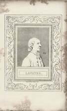 1835 Engraved Portrait Lavater  G Cooke