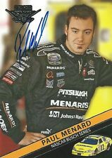 PAUL MENARD AUTOGRAPHED 2007 WHEELS HIGH GEAR RACING NASCAR PHOTO TRADING CARD