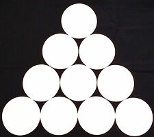 1 SET OF 10 WHITE FLAT RUBBER DISC SPOT MARKERS INDOOR SOCCER FUTSAL BASKETBALL