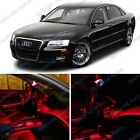 Brilliant Red Audi A8/S8 Interior LED Package Deal 2002-2009 (12 Pieces) #508