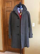 Men's Vintage Pendleton Grey Wool Car Coat Overcoat Marked 42