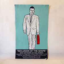 Neil Burke Inclusion of the Shape Show Poster Born Against/Mens Recovery Project