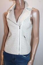 Ally Brand Cream Multi Tweed Sleeveless Vest Jacket Size 8-XS #SJ05