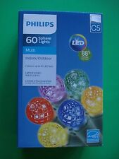 PHILIPS CHRISTMAS LED SPHERE STRING LIGHTS 60 MULTI ENERGY SAVINGS NEW