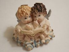 Heaven's Bundles ~ Peter & Paulette Angel Figurine ~ Publishers Clearing House