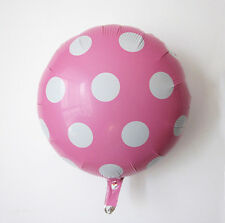 """18"""" Pink Round Big Polka Dot Foil Balloons For Wedding Birthday Party Decoration"""
