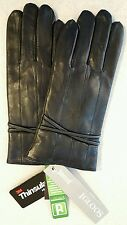 NWT Igloos Women's M/L Leather TEXTING Gloves BLACK Touchscreen DRIVING  #257816