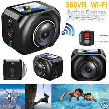 VR360  4K Full HD Mini WiFi Helmet Action Camera Sport Camera+Remote Control NEW