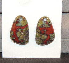 Dragon Stone Jasper Cabochons 20x13mm with 4mm dome set of 2  (11082)