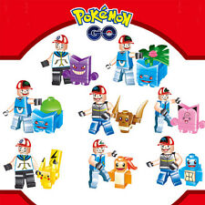 8pcs pokemon go Set POKEMON Mini Figures PIKACHU Building Blocks Toys Kids Lego