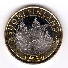NEW !!! 5 EURO Bimetallico FINLANDIA 2015 Lince NEW !!!