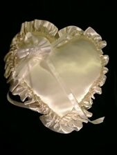 Heart Shaped Satin Ring Bearer Pillow