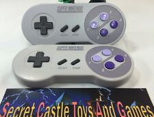 2 Official Super Nintendo SNES OEM Controllers Original Vintage 60 DAY WARRANTY