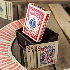 Faded Rider Back Red-BICYCLE POKER carte da gioco