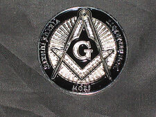 Masonic Challenge Coin Square Compass Freemason Eye Case Fraternity NEW!