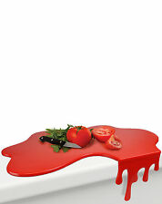 Mustard Splash Chopping Board Wet Liquid Blood Red Cutting Board Designer Gift