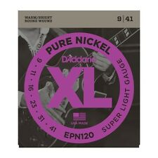 D'Addario EPN120 9-41 Super Light Electric Pure Nickel Guitar Strings Free Ship