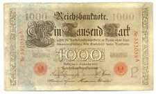 Germany Empire Imperial Reichsbanknote 1000 Mark 1909 F/VF #39