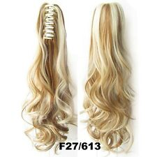 """22"""" Claw Pony tail Ponytail Clip In On Hair Extension Wavy Curly Style 26 Colors"""
