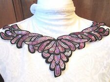 "11"" SEQUIN NECKLINE Applique   PURPLE & BLACK"