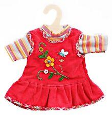 Heless Puppenkleidung, 2-tlg. Trägerkleid mit T-Shirt,  für 20 - 22 cm Puppen