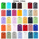 Berlioni Solid Dress Shirt w/ Barrel Convertible Cuffs Many Colors Available