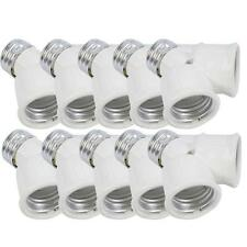 10Pcs E27 to 2x E27 Led CFL Light Lamp Bulb Adapter Converter Socket Splitt