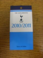02/11/2010 Ticket: Tottenham Hotspur v AC Milan [Champions League] [The Goalmout
