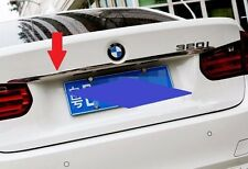 Steel Rear Trunk Lid molding trim Chrome BMW 3 Series F30 320 328 2013 2014 2015