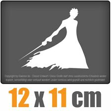 Samurai 12 x 11 cm JDM Decal Sticker Aufkleber Racing Scheibe Auto Car Weiß