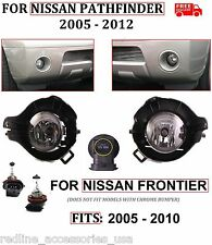 FOG LIGHTS LAMPS REPLACEMENTS FOR 2005 - 2012 NISSAN PATHFINDER 05 - 10 FRONTIER