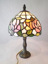 Tiffany Style Table Lamp Stratford Collection Dana Light  Vintage Stained Glass