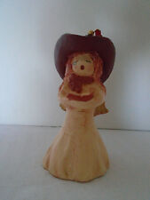 Sandy Whitefeather Native American Handmade Clay Cowgirl Angel W/ Book Ornament