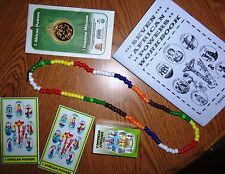 7 AFRICAN POWERS LOT - santeria book soap coin prayer cards necklace, etc seven