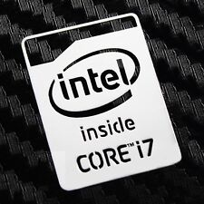 Intel Core i7 Inside Silver Chrome Sticker 16 x 20.5mm Haswell 2013 Version
