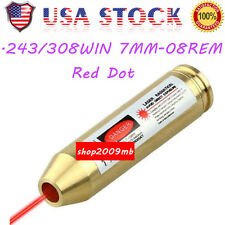 .243/308WIN 7MM-08REM Red Dot Laser Boresighter Bore Sight Cartridge For Ri