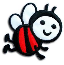 Bee Patch Sew Cute Iron on Kinder Motif Applique Buzz Flower Honey Insect Kids