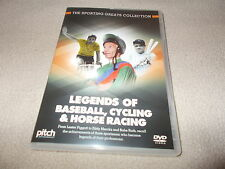 NEW DVD LEGENDS OF BASEBALL CYCLING & HORSE RACING Lester Piggott & Eddy Merckx