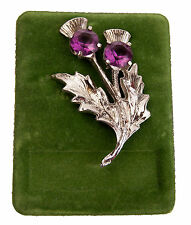 Vintage 1981 Scottish Thistle Brooch Pin from Art Pewter Scotland