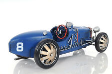 "1920s Bugatti Type 35 Metal Racing Car Model 14"" Automobile Automotive Decor"