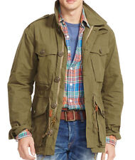 Polo Ralph Lauren waxed-cotton military combat field jacket, olive, S, MSRP $295