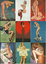 PINUPS UNCOVERED - COMPLETE SET OF 50 + WRAPPER - GIL ELVGREN - ZOE MOZERT