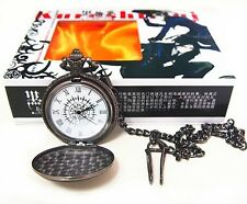 Free Shipping Black Butler Kuroshitsuji Cosplay Read Pocket Watch New in Box